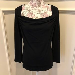 Banana Republic drape neck top